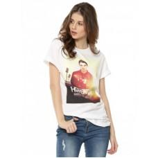 Deals, Discounts & Offers on Women Clothing - Koovs Hardwell Slogan Print T-shirt