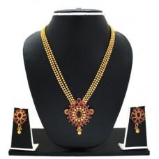 Deals, Discounts & Offers on Women - Flat 69% offer on Zaveri Pearls Traditional Haram Necklace Zinc Jewel Set