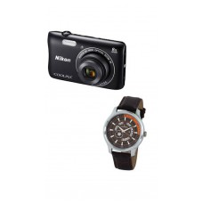 Deals, Discounts & Offers on Cameras - Nikon Coolpix S3700 20.1 MP Point & Shoot Camera