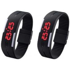 Deals, Discounts & Offers on Men - Flat 90% offer on 3wish Led Rubber Magnet 2 Set Of Digital Watch