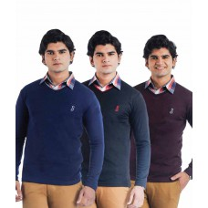 Deals, Discounts & Offers on Men Clothing - Flat 60% offer on pack of 3 Full Sleeve Sweaters