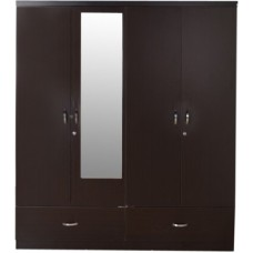 Deals, Discounts & Offers on Home Appliances - hometown Utsav Engineered Wood Free Standing Wardrobe