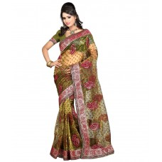 Deals, Discounts & Offers on Women Clothing - Flat 46% offer on Multi Color Banarasi Cotton Dashing Saree