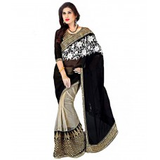 Deals, Discounts & Offers on Women Clothing - Flat 75% offer on Designer Saree House Multi Color Net Saree