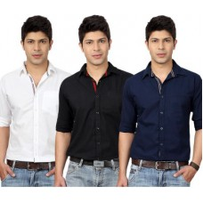 Deals, Discounts & Offers on Men Clothing - Flat 24% offer on Top Notch Men's Solid Casual Shirt