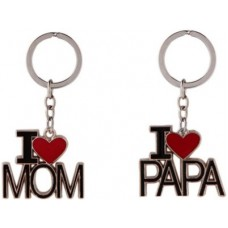 Deals, Discounts & Offers on Accessories - KeepSake I Love Mom & Dad Combo Key Chain