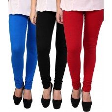 Deals, Discounts & Offers on Women Clothing - Flat 31% offer on Klick 3 Pc Cotton Lycra Legging Combo 6