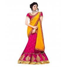 Deals, Discounts & Offers on Women Clothing - Stylo Designer Pink Georgette Saree