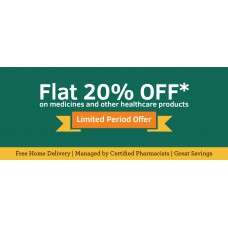 Deals, Discounts & Offers on Health & Personal Care - Flat 20% off on all Medicines & Health products
