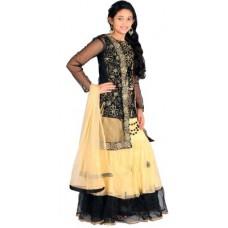 Deals, Discounts & Offers on Baby & Kids - Saarah Self Design Girl's Lehenga, Choli and Dupatta Set