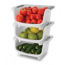Deals, Discounts & Offers on Home & Kitchen - Flat 38% offer on JB's Polypropylene Kitchen Stack - Set of 3