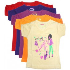 Deals, Discounts & Offers on Baby & Kids - New Day Casual Short Sleeve Graphic Print Baby Girl's Top