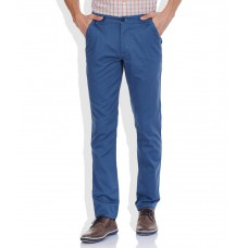 Deals, Discounts & Offers on Men Clothing - Colorplus Blue Slim Trouser offer in deals of the day