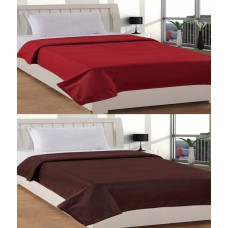 Deals, Discounts & Offers on Furniture - Paisa Worth Multicolour Plain Polyester Blanket Set Of 2