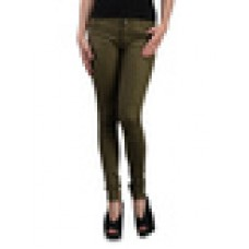 Deals, Discounts & Offers on Women Clothing - Green cotton lycra skinny pants