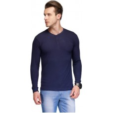 Deals, Discounts & Offers on Men Clothing - TSX Solid Men's Henley T-Shirt