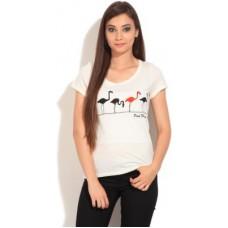 Deals, Discounts & Offers on Women Clothing - Women's Round Neck T-Shirt