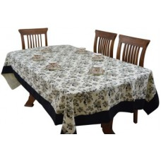 Deals, Discounts & Offers on Home & Kitchen - The Fancy Mart Floral 6 Seater Table Cover