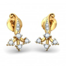 Deals, Discounts & Offers on Earings and Necklace - Bluestone Yellow Gold and Diamond Stud Earrings