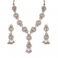 Deals, Discounts & Offers on Earings and Necklace - Variation Austrian Diamond Long Party Wear Necklace Set For Women - VD14219