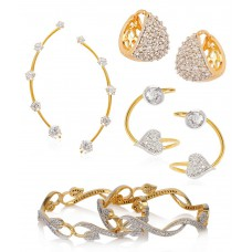 Deals, Discounts & Offers on Women - Combo of Bangles with 2 Earcuff & 1 Earring
