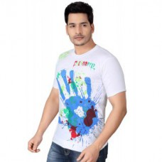 Deals, Discounts & Offers on Men Clothing - Flat 55% off on brinley Bio-Wash Round Neck T-Shirt For Mens