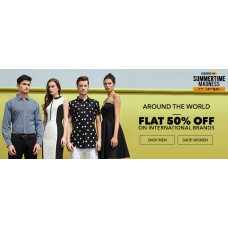 Deals, Discounts & Offers on Men Clothing - Flat 50% off on International Brands