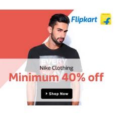Deals, Discounts & Offers on Men Clothing - Nike Apparel Minimum 40% Off in Flipkart