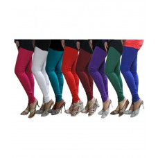 Deals, Discounts & Offers on Women Clothing - Castle Pack Of 8 Mulitcolor Solid Leggings