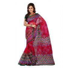 Deals, Discounts & Offers on Women Clothing - Flat 56% off on Lookslady Pink Cotton Saree