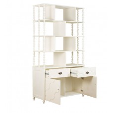 Deals, Discounts & Offers on Home Appliances - Indian Heritage Theme Book Case in Ivory Finish by Pink Guppy