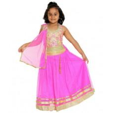 Deals, Discounts & Offers on Baby & Kids - Flat 61% off on Mylilprincess Pink Neted Lehenga Choli