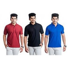 Deals, Discounts & Offers on Men Clothing - Combo of 3 Multicolour Men T-shirts at Rs 499 only