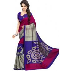 Deals, Discounts & Offers on Women Clothing - Design Willa Printed Fashion Art Silk Sari