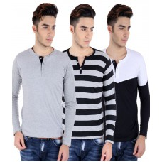 Deals, Discounts & Offers on Men Clothing - Big Idea Cotton Blend T shirts Pack Of 3