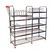 Deals, Discounts & Offers on Home Appliances - Steel Smart Modern Kitchen Rack Stand at Flat 10% off
