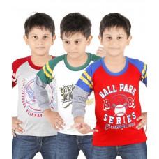 Deals, Discounts & Offers on Baby & Kids - Radcart Multicolour Cotton T-shirt - Set Of 3