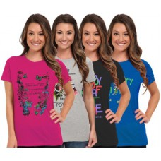 Deals, Discounts & Offers on Women Clothing - So Sweety Graphic Print Women's Round Neck T-Shirt
