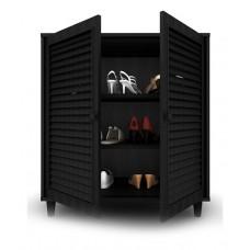 Deals, Discounts & Offers on Furniture - 2 Door Shoe Rack in Black