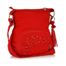 Deals, Discounts & Offers on Accessories - Pick Pocket Red Canvas Cloth Sling Bag