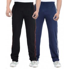 Deals, Discounts & Offers on Men Clothing - Teestadka Multicolor Cotton Trackpants - Combo Of 2