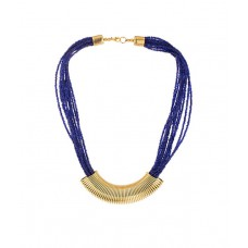 Deals, Discounts & Offers on Women - Shilpi Handicrafts Blue & Golden Traditional Necklace
