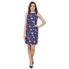 Deals, Discounts & Offers on Women Clothing - Cherymoya Blue & Green Printed Women Mini Dress at Rs 1049 only