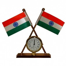 Deals, Discounts & Offers on Home Decor & Festive Needs - India Double Sided Wind Car Dashboard Flag with Clock