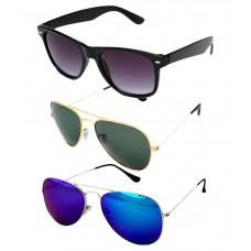 Deals, Discounts & Offers on Accessories - Abazy Aviator and wayfarer sunglasses combo pack of 3