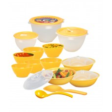 Deals, Discounts & Offers on Kitchen Containers - Ruchi Housewares Microwave Heat-serve-store Set (14 Pcs)