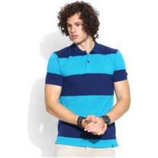 Deals, Discounts & Offers on Men Clothing - United Colors of Benetton Striped Men's Polo Neck T-Shirt