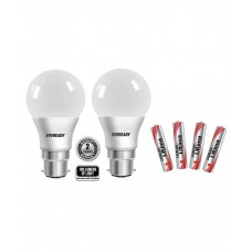 Deals, Discounts & Offers on Home Decor & Festive Needs - Flat 56% offer on Eveready 9W (pack of 2) LED Bulb