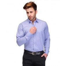 Deals, Discounts & Offers on Men Clothing - Koolpals Blue Cotton Blend Striped Men's Shirt