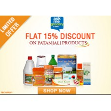 Deals, Discounts & Offers on Health & Personal Care - Get 15% OFF on Patanjali Ayurved products